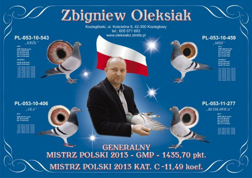 Plakat Oleksiak Zbigniew 2013